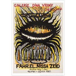Fahr El Nissa Zeid 1961 (exhibition poster)