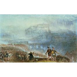Turner: Edinburgh Castle, March of the Highlanders