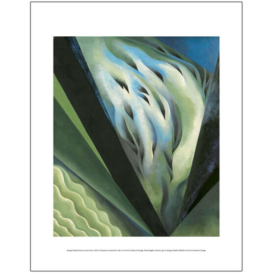 Georgia O'Keeffe Blue and Green Music (mini print)