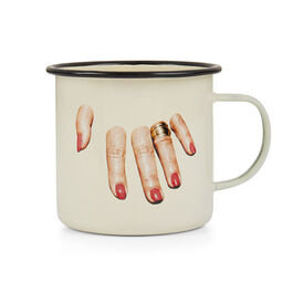 Fingers enamel mug