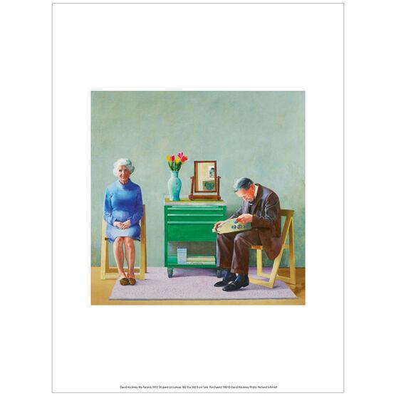 David Hockney My Parents (exhibition print)