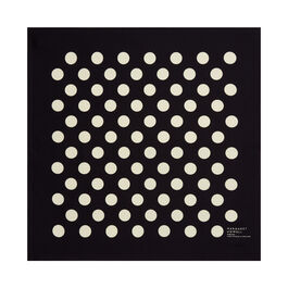Margaret Howell black polka dot scarf