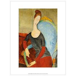 Modigliani Jeanne Hébuterne 1918 (exhibition print)