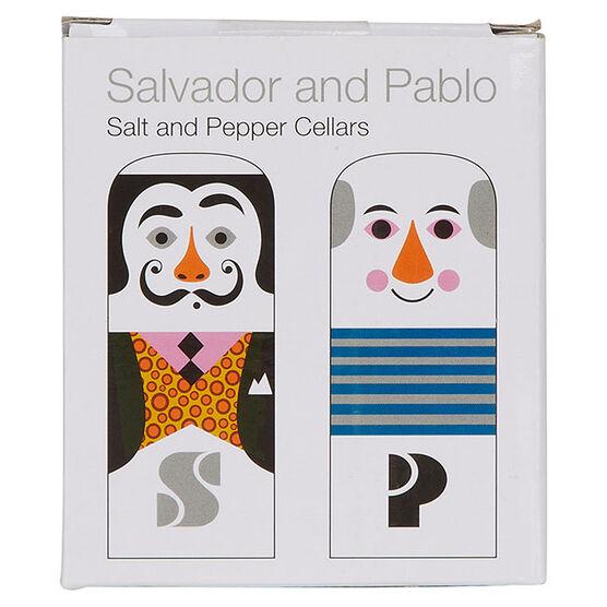 Modern artists salt and pepper pots