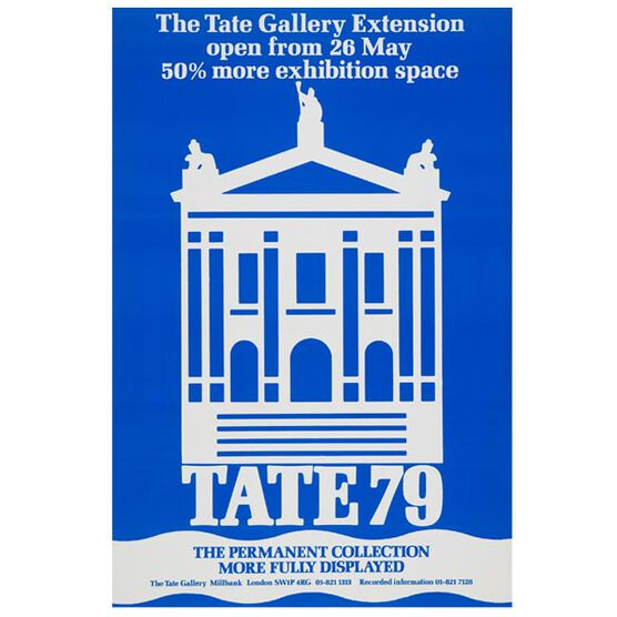 Tate 1979 (vintage poster reproduction)
