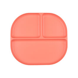 Divided bamboo plate - coral