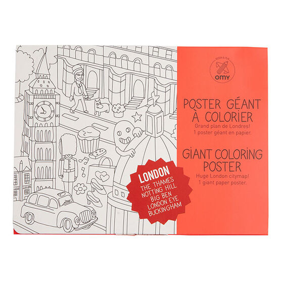 Colour in London wall poster