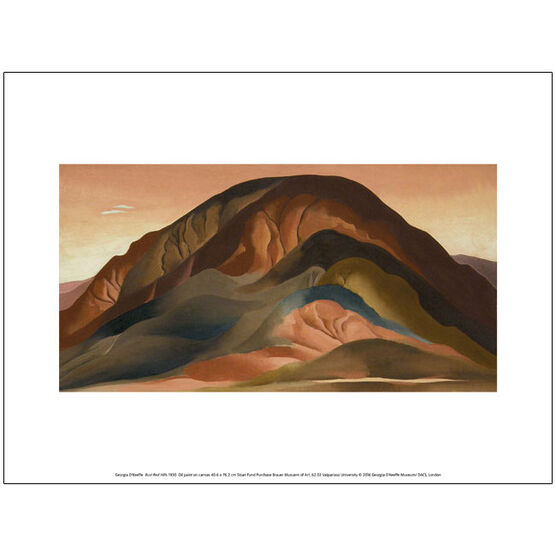 Georgia O'Keeffe Rust Red Hills (exhibition print)
