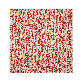 Patrick Heron Aztec silk pocket square