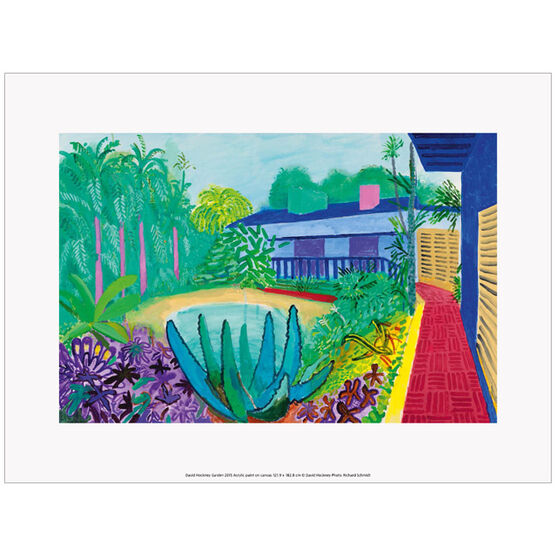 David Hockney Garden  (exhibition print)