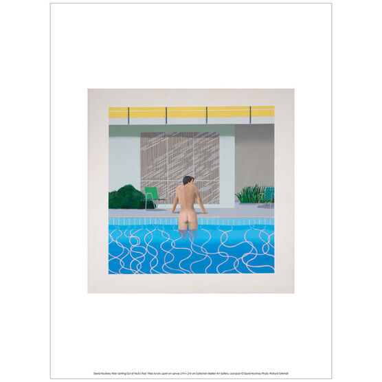 David Hockney Peter getting Out of Nick's Pool  (exhibition print)