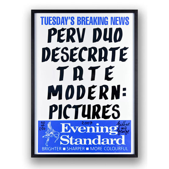 Gilbert and George, Perv Duo Desecrate Tate Modern: Pictures, 2007