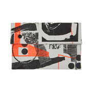 Laura Slater small neon leather clutch bag
