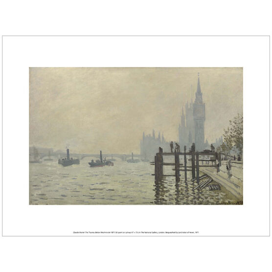 Monet The Thames Below Westminster (exhibition print)