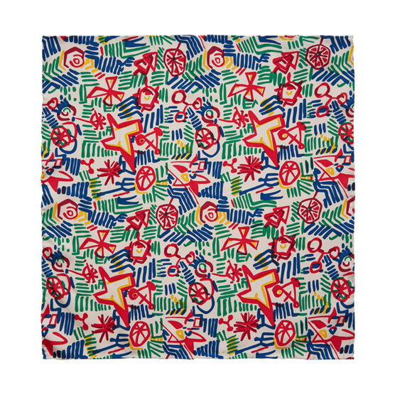 Patrick Heron Multicolour silk pocket square
