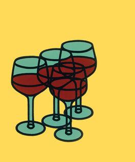 Caulfield: Wine Glasses (custom print)