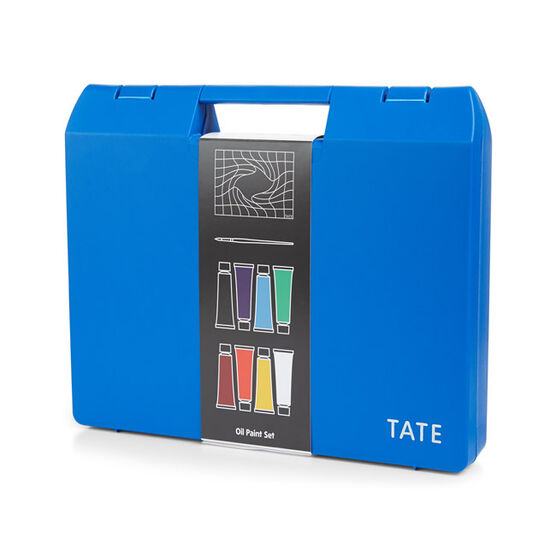 Oil paint art box set (8) blue