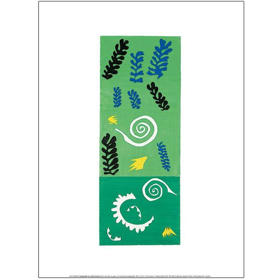 Henri Matisse Composition on a Green Ground (exhibition print)