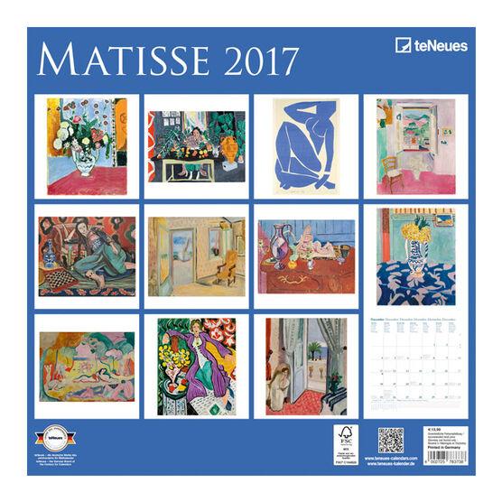 Matisse calendar 2017