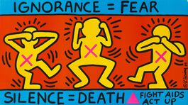 Keith Haring: Silence = Death Study Day
