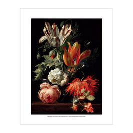 Simon Verelst: A Vase of Flowers mini print