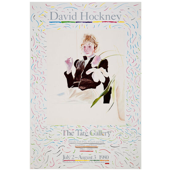 David Hockney: Celia Birtwell vintage poster