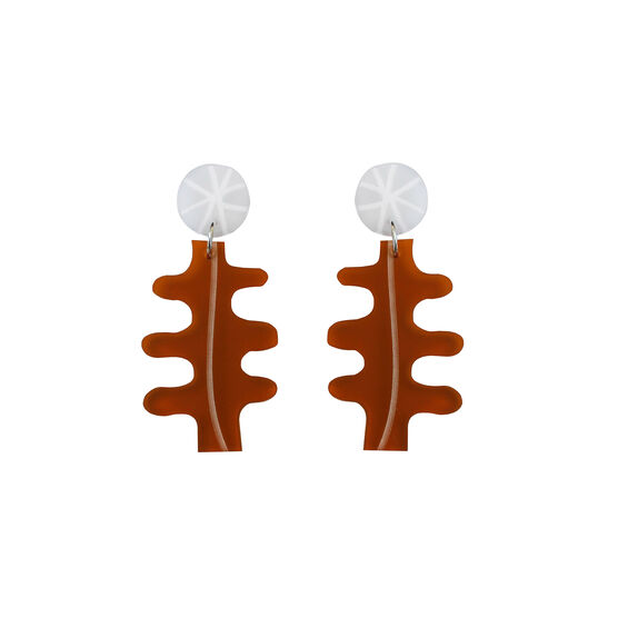 Form rust earrings