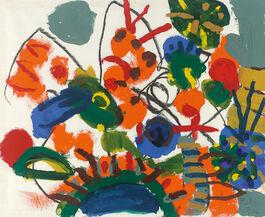 Roger Hilton: Foliage with Orange Caterpillar