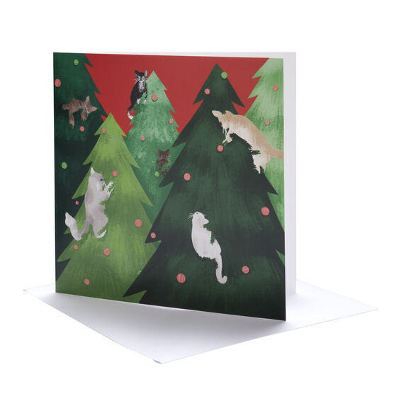 Tianna Barnes Cat Christmas cards (pack of 6)