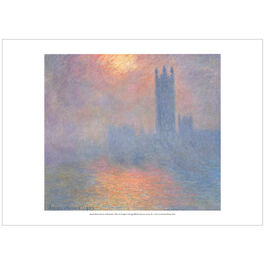 Monet Houses of Parliament, Effect of Sunlight in the  Fog  (poster)