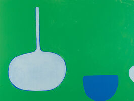 Scott: Bottle and Bowl, Blues on Green
