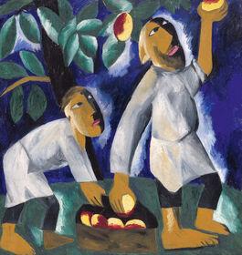 Goncharova: Peasants Picking Apples