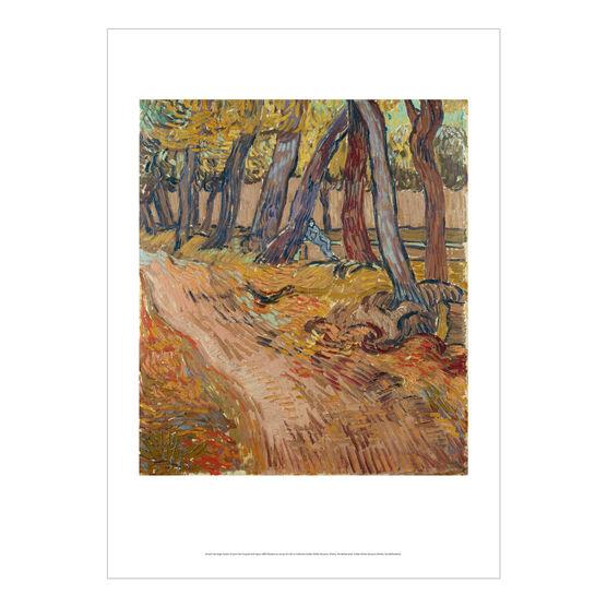 Vincent van Gogh: Garden of Saint-Paul Hospital with Figure poster
