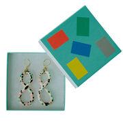 Ceramic twist Peony earrings