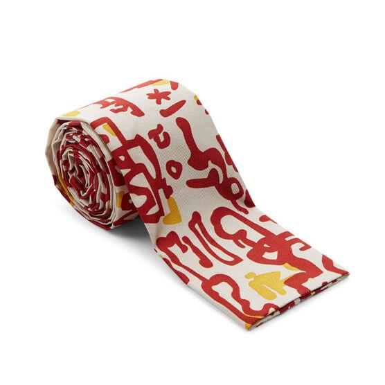 Patrick Heron Aztec silk tie
