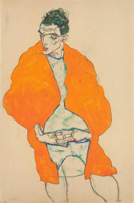 Egon Schiele: Standing male figure (self-portrait)