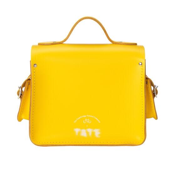 Bright yellow leather Cambridge camera bag