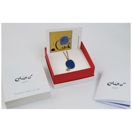 Joan Miró blue star necklace