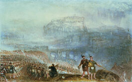 Turner: Edinburgh Castle, March of the Highlanders