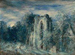 John Constable: Netley Abbey by Moonlight