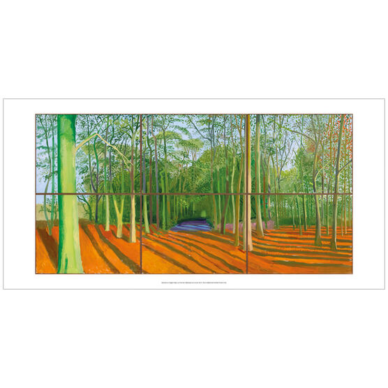 David Hockney Woldgate Woods, 6 & 9 November 2006 (poster)