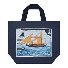 Alfred Wallis Blue Ship beach bag