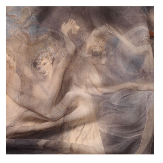 William Blake Fairies Dancing silk scarf