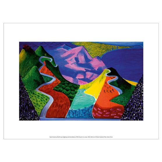 David Hockney Pacific Coast Highway and Santa Monica (exhibition print)