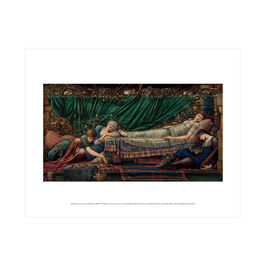 Edward Burne-Jones: The Rose Bower mini print