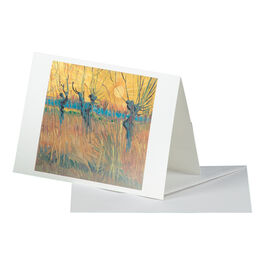 Van Gogh: Pollarded Willows, Arles greetings card
