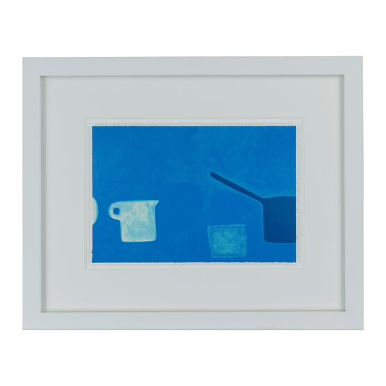 William Scott Cup and Pan Blues (framed print)