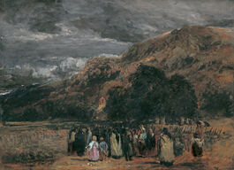 David Cox: A Welsh Funeral, Betwys-y-Coed