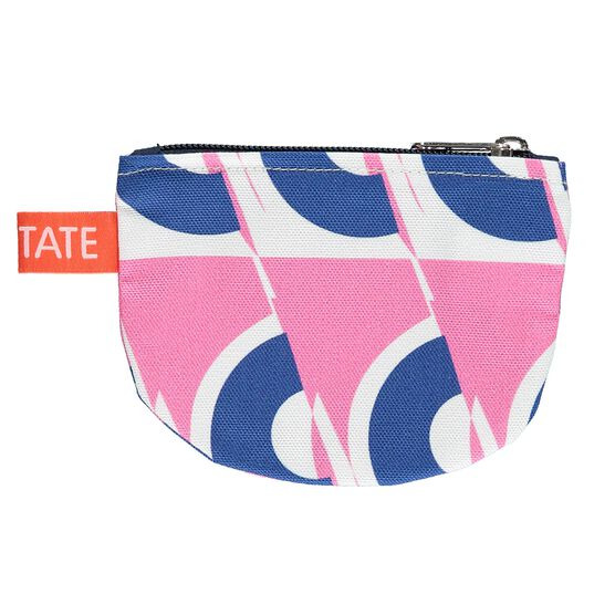 Laura Spring pink and blue circle purse