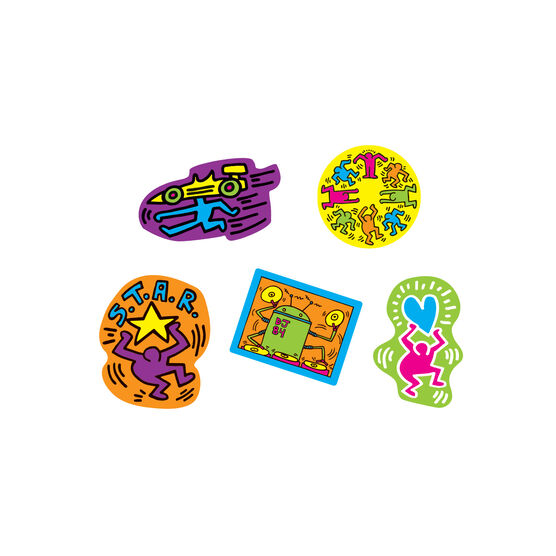 Keith Haring wooden magnet set